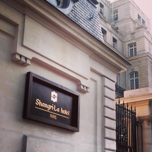 Entree du Shangri-La Hotel Paris