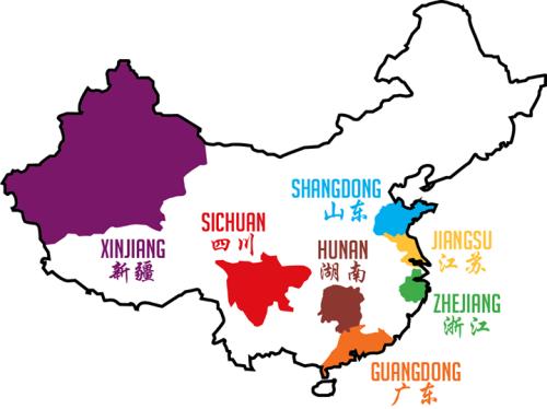 Régions de Chine représentées à la Chinese Food Week