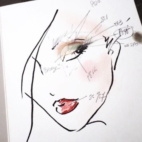 Cours de maquillage du regard chez Shu Uemura