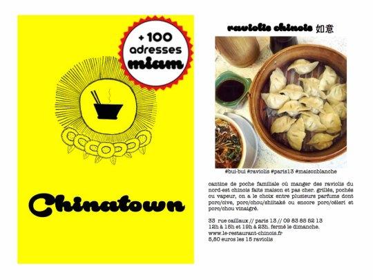 petit livre jaune, le guide des chinatowns de paris de la petite banane